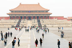 China : Forbidden City. The Forbidden City was the Chinese imperial palace from the Ming Dynasty to the end of the Qing Dynasty. It is located in the centre of royalty free stock photo