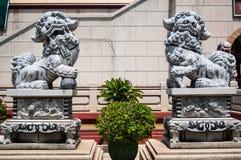 China formte Löwe. Stockfoto