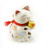 China Fortune Cat. A white china fortune cat stock photography