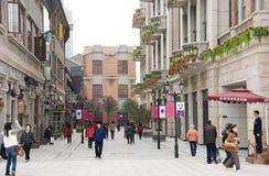 China: Fußgängerstraße stockbild