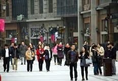 China: Fußgängerstraße lizenzfreies stockbild