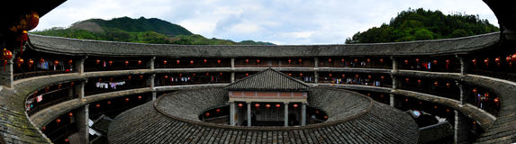 China Fujian Hakka Tulou Stock Photo