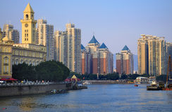 China Fuzhou urbano imagens de stock