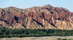 China Gansu Zhangye Danxia Geomorphic Geological Park royalty free stock photography
