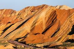 China Gansu Zhangye Danxia Geomorphic Geological Park royalty free stock images