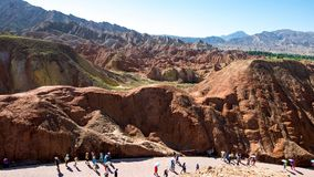 China Gansu Zhangye Danxia Geomorphic Geological Park stock photography