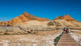 China Gansu Zhangye Danxia Geomorphic Geological Park royalty free stock photos