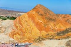 China Gansu Zhangye Danxia Geomorphic Geological Park stock photos