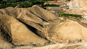 China Gansu Zhangye Danxia Geomorphic Geological Park stock image
