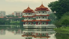 China garden Sing. China garden in the Singapore 4k stock video footage