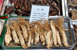 China:  Ginseng Roots Stock Photo