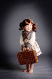 China girl of 1920s with lugga Stock Images