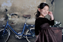 China girl. The Chinese girl are wearing 1920s clothes Stock Photo