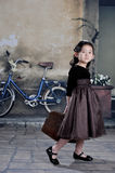 China girl. The Chinese girl are wearing 1920s clothes Royalty Free Stock Photography