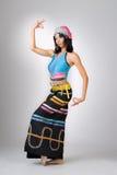 China girl dancing Royalty Free Stock Photo