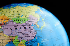 China in the Globe Royalty Free Stock Images