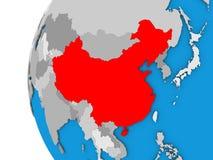 China on globe Royalty Free Stock Image
