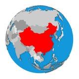 China on globe Stock Image