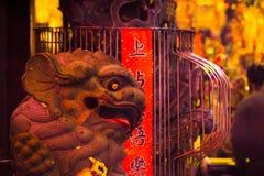 China, godsdienst, steenleeuw, steenleeuw royalty-vrije stock afbeelding