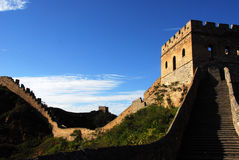 China Great Wall. Architecture, ancient building Stock Photos