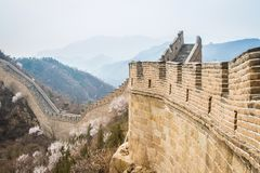 China, Great Wall of China. Great Wall of China, the Badaling section Royalty Free Stock Photography