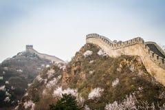 China, Great Wall of China. Great Wall of China, the Badaling section royalty free stock image