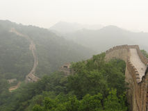 China great wall. Great wall with green trees Stock Photo