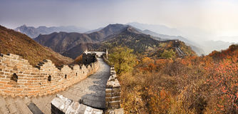 China Great Wall Horizon panorama Royalty Free Stock Photography