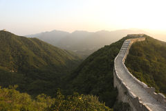 China Great Wall  during sunset Stock Image