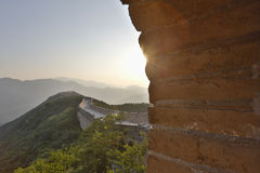 China Great Wall view from beacon tower Royalty Free Stock Photo