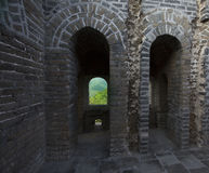 China Great Wall view from beacon tower Royalty Free Stock Photography