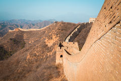 China great wall of  in winter Royalty Free Stock Photos