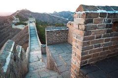China great wall of  in winter Stock Photo