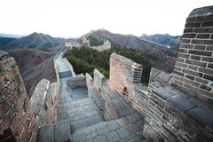 China great wall of  in winter Stock Photos