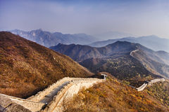 China Great Wall Zigzag Down Stock Photography