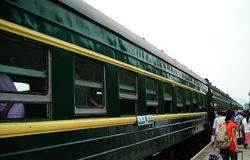 China green trains Royalty Free Stock Photography
