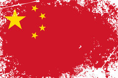 China grunge flag Stock Photography