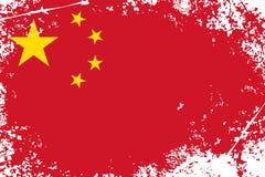 China grunge flag Stock Photography
