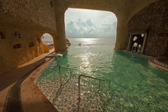 China Guangdong Huizhou, Huidong Xunliao Bay hotel swimming pool with panoramic sea views Stock Photo