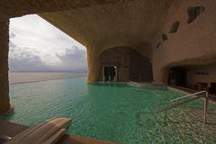 China Guangdong Huizhou, Huidong Xunliao Bay hotel swimming pool with panoramic sea views Royalty Free Stock Photo