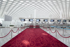China Guangdong Shenzhen Airport T3 Terminal VIP interior passage Royalty Free Stock Images
