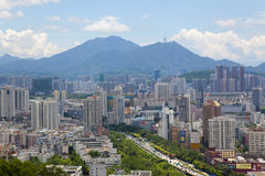 China Guangdong Shenzhen cityscape Stock Image