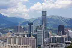 China Guangdong Shenzhen Futian cityscape Stock Photography