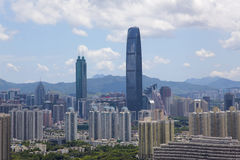 China Guangdong Shenzhen Luohu cityscape Stock Photography