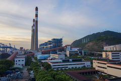 China Guangdong Shenzhen Nanshan Power Industry coastal scene Royalty Free Stock Photo