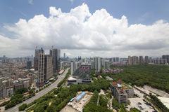 China Guangdong Shenzhen Qianhai cityscape Royalty Free Stock Images