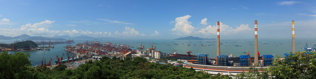 China Guangdong Shenzhen Shekou panorama Royalty Free Stock Image