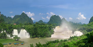 China Guangxi Detian Waterfall transnational. Eastphoto, tukuchina, China Guangxi Detian Waterfall transnational Royalty Free Stock Photo