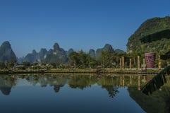 China Guangxi Mingshi Hirten Stockfotos