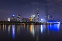 China Guangzhou city night Royalty Free Stock Images